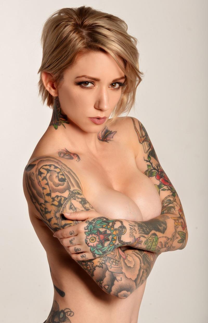 Women chest tattoos naked