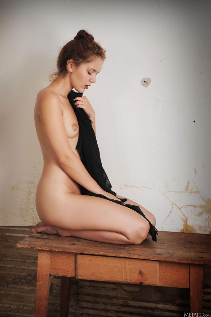 Голая секретарша в разбитой хате