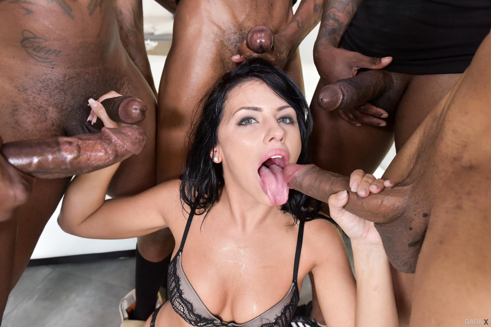 Rough and degrading gangbang