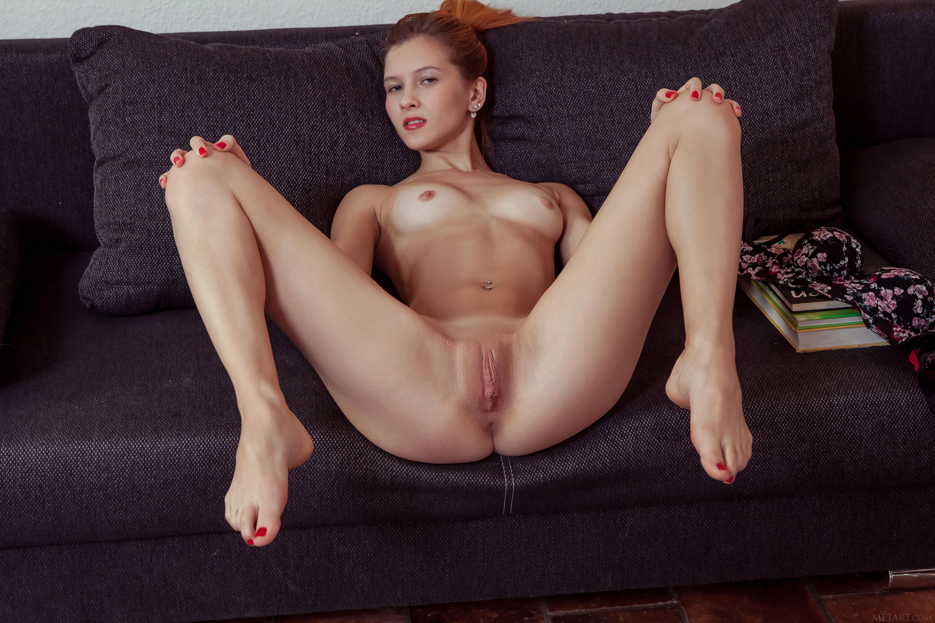 Naked Red Hair Female With Great Legs