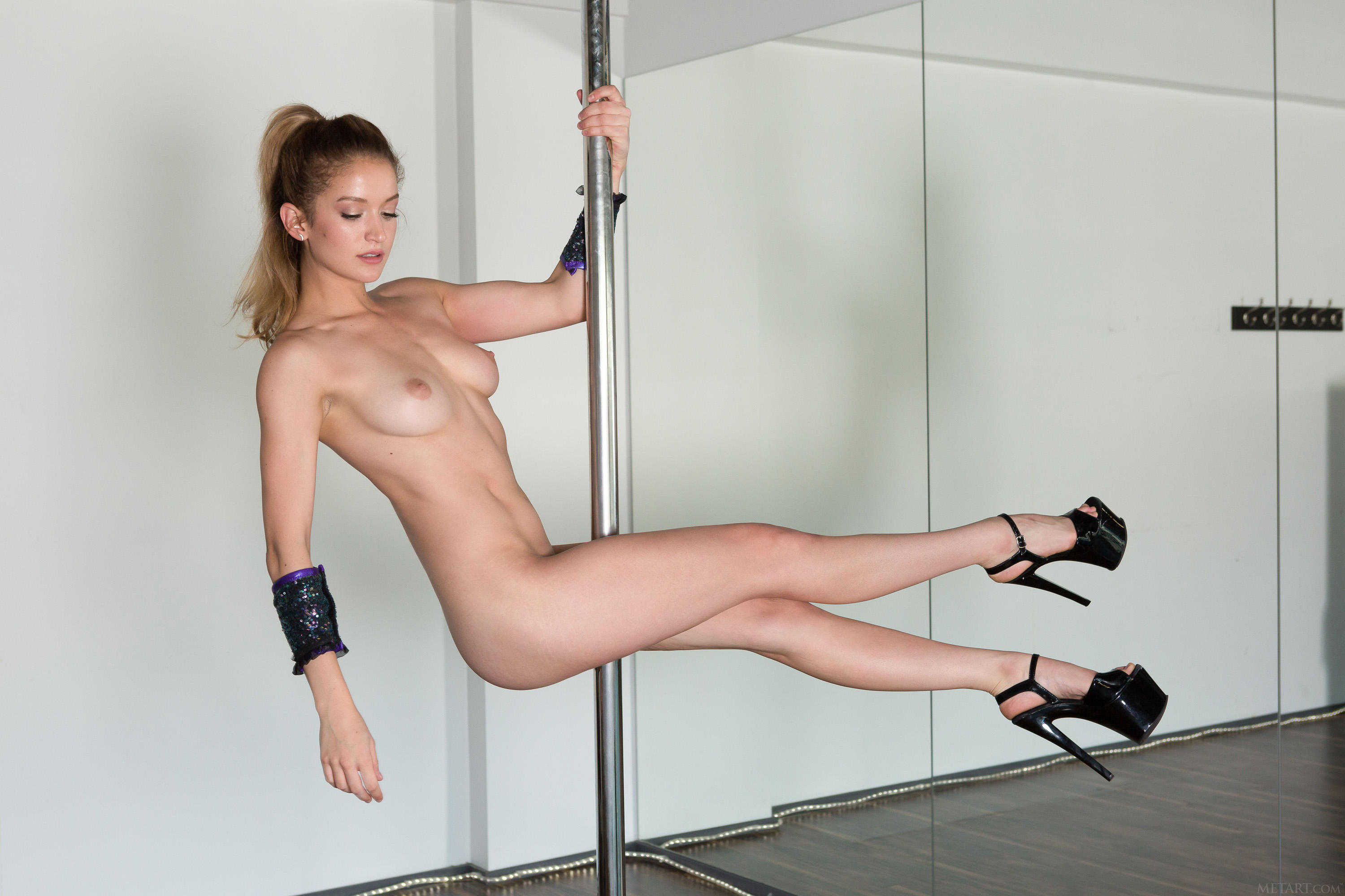Hot girl flexible pole naked