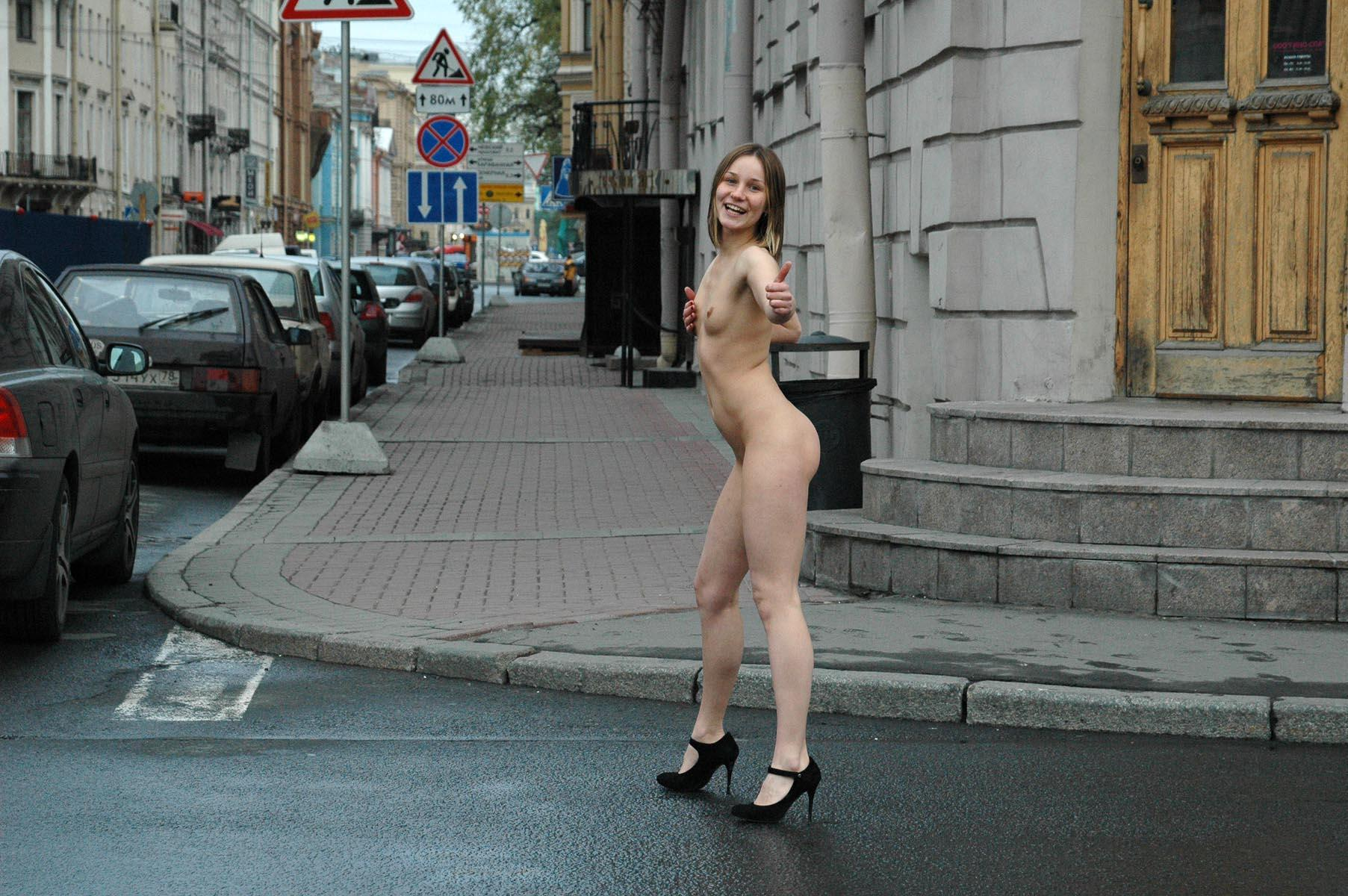 Nude street babe 13