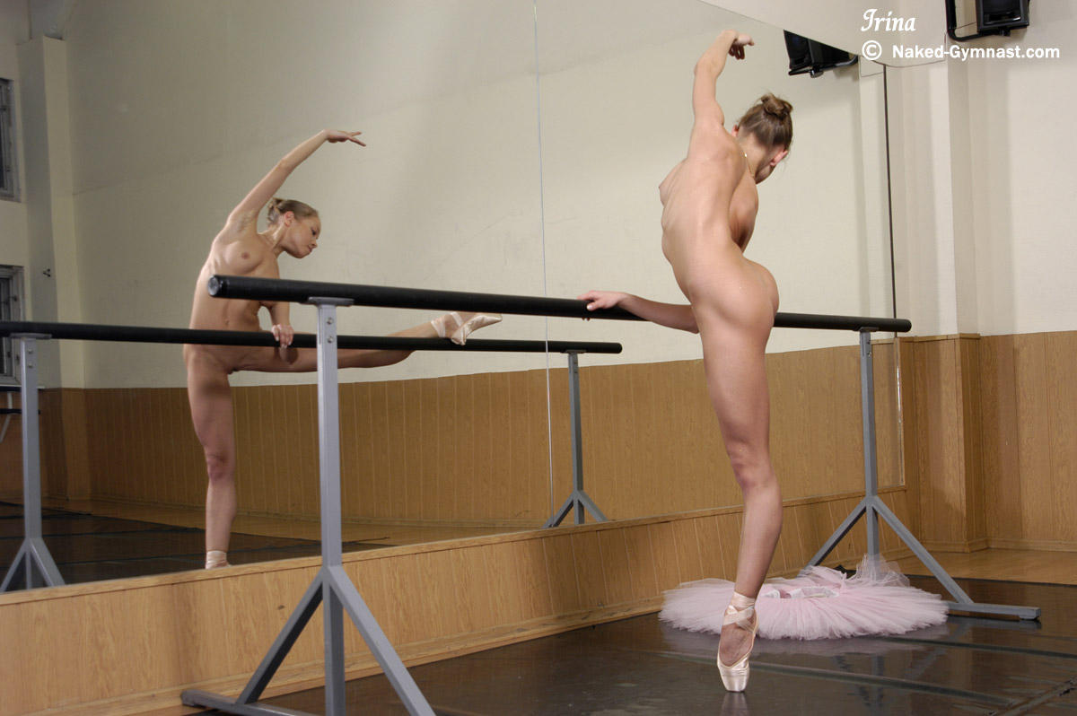 Naked ballerina fucked and creampied in the ballet