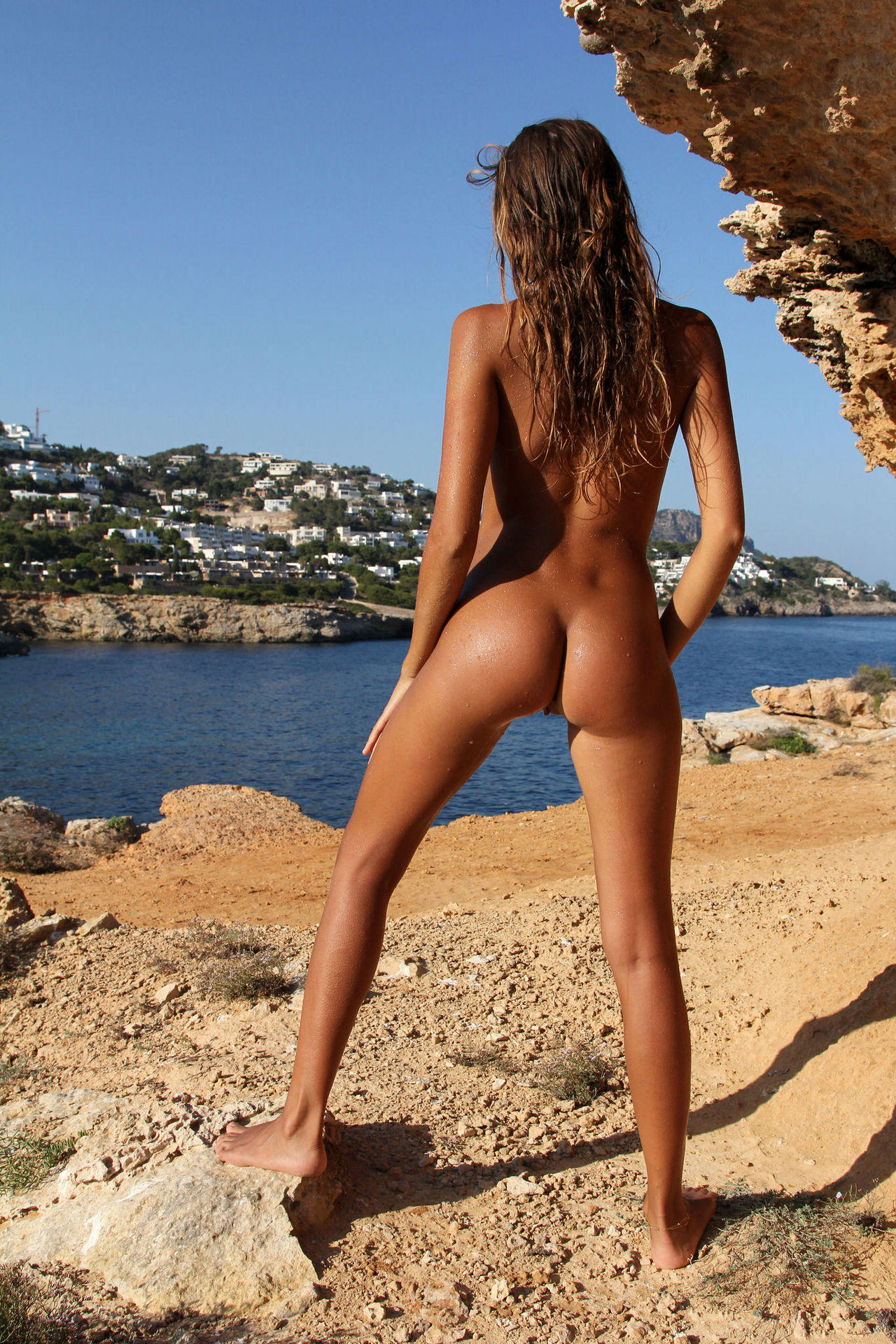Naked tight asses