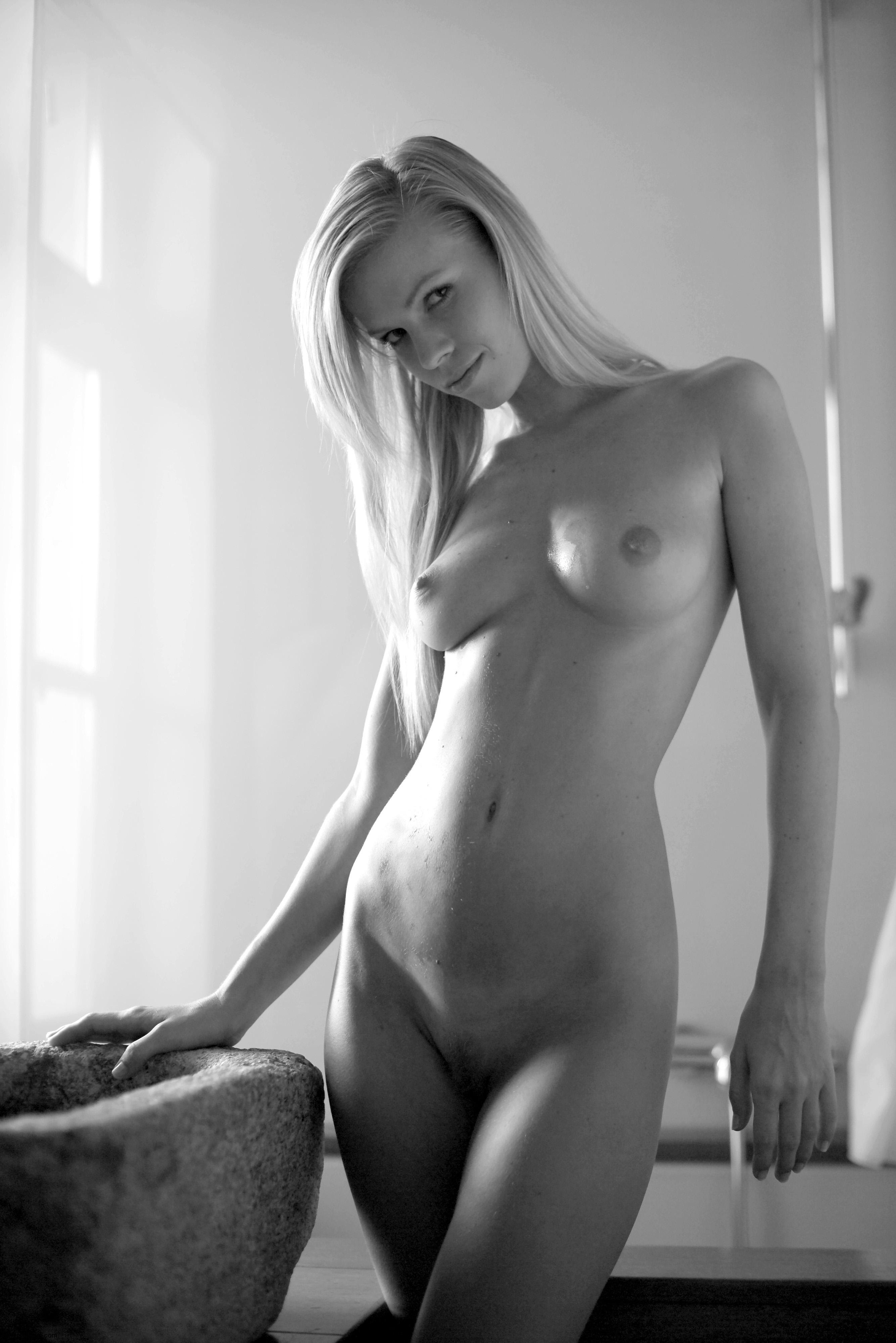 Blonde little black dress